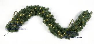 Pre Lit Garland Dakota GS Warm White LED Connector