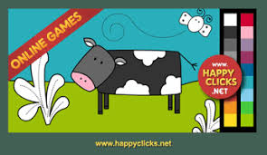 Online Coloring Games For Toddlers And Preschoolers Painting Cow Free Fun