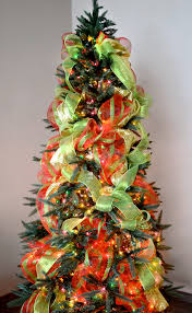 tree decorations ideas with ribbons inspiring tree decorating ideas with mesh ribbon