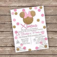 Invitacion Bautizo Babyshower Minnie Mouse Imprimible 13000 En