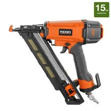 Home Depot Husky Floor Nailer by Ridgid 15 Gauge 2 1 2 In Angled Nailer R250afe The Home Depot
