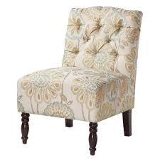 Lola Tufted Armless Chair | Armless Accent Chair, Tufted ...