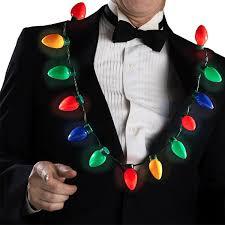 Ebay Christmas Trees India by Amazon Com Led Light Up Christmas Bulb Necklace String Light
