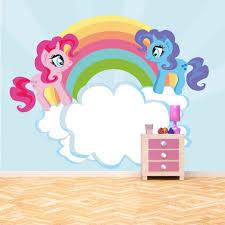 Unicorn Rainbow Wall Mural Pony Wallpaper Girls Bedroom Nursery Photo Home Decor