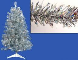 75 Douglas Fir Artificial Christmas Tree by Holiday Time Pre Lit 4 U0027 Pink Tinsel Artificial Christmas Tree