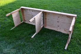 workbench legs plan ideas modern table design