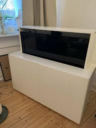 tv lift elektr hebefunktion tv fernsehschrank besta laxviken