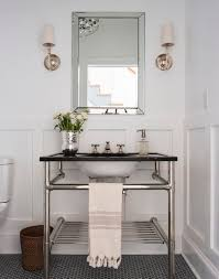 vanities for small bathrooms Powder Room Transitional with