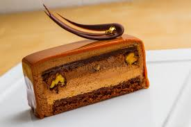 Download Chocolate Mousse Cake slice Stock Image