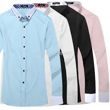 black collar white mens dress shirts promotion shop for
