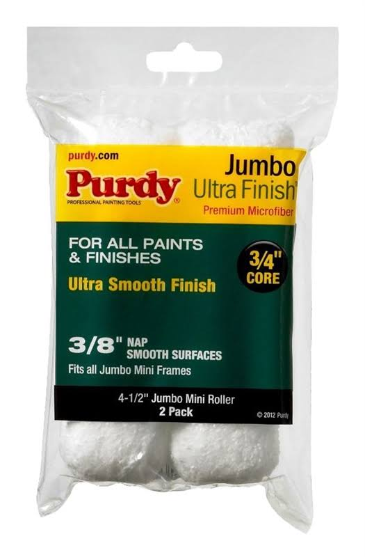 "Purdy Jumbo Mini Ultra Finish Roller Replacements Cover - 4 1/2"" x 3/4"", 2pk"
