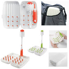 Oxo Sink Mat Australia by Oxo Tot On The Go Drying Rack And Bottle Brush Urbanbaby