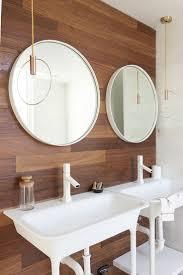 mid century modern bathroom floor tile ideas with driftwood furniture