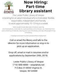 Job Opening For Part-time Library Assistant - Applications ... Social Media Skills Resume Simple Job Examples Best Listed By Type And 5 Top Samples Military To Civilian Employment For Your 2019 Application Tips For Former Business Owners To Land A Cporate Part Time Ekiz Biz Rumes Work New General Resume Objective Examples 650839 Objective Google Docs Templates How Use Them The Muse 64 Action Verbs That Will Take From Blah Student Graduate Guide Sample Plus 10 Insurance Agent Professional Domestic Helper Household Staff