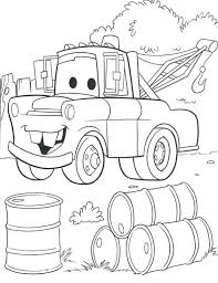 Cars Coloring Sheets Car Pages Free Printable Disney Christmas Valentine Medium Size