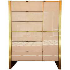 Broyhill Brasilia Magna Dresser by Ello Furniture Tall Glass And Brass Dresser 1662