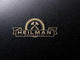 Heilman Woodworking Logo Elegant Playful Design By Eye2Eye