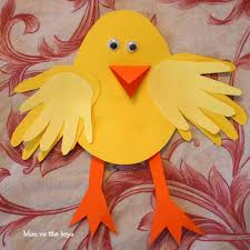 Easy Handwork Ideas For Kids Luxury Easter Chick Craft Using Your Handprints