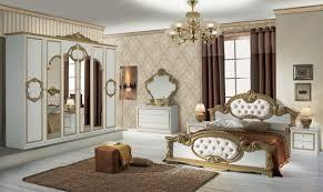 barock luxus schlafzimmer refinado in gold weiß italien klassik