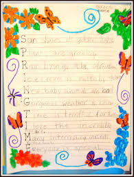 Poems About Halloween by Patties Classroom Springtime Acrostic Poems And Pom Pom Flowers