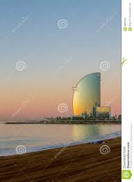 100 The W Hotel Barcelona Spain At Sunrise Editorial Photography Image Of Antoni 99850442