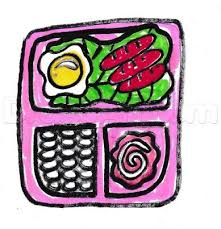 How To Draw Lunchbox With Breakfast Step 6