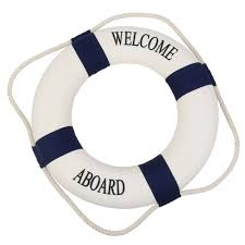 Decorative Lobster Trap Buoys by Welcome Life Preserver Ring Decor Buoys