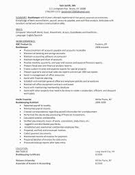 Lovely Entry Level Bookkeeper Resume Sample Cover Center Unique Contemporary Job Responsibilities Or Nt Bookkeeping Res