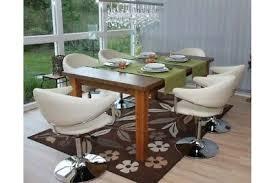 6 x esszimmerstühle kunstleder creme drehbar stuhlset design