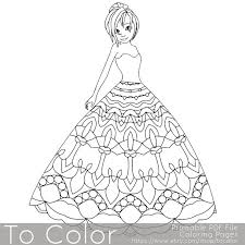 Mandala Princess Coloring Pages For Adults