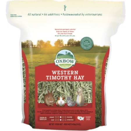Oxbow Animal Health Western Timothy Hay for Pets - 15oz