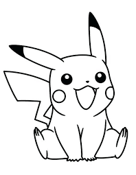 Pikachu Coloring Pages Little Pokemon Free