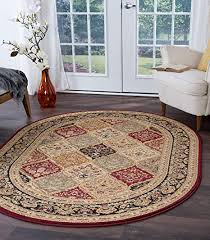 universal teppiche princeton tradition oval accent bereich teppich rot 160 x 221 cm 5 x 8 ft