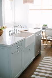inspiring white kitchen with light blue island home bunch