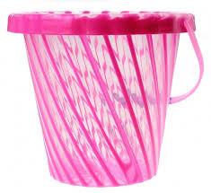spiel eimer rosa 20 x 20 cm