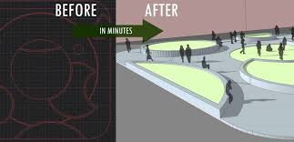 how to make quick 3d models from autocad to sketchup