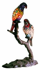 Tiffany Style Lamps Canada by Tiffany Style Exotic Birds Accent Lamp Table Lamps Amazon Com