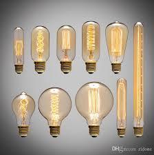 40w filament light bulbs vintage retro industrial style edison