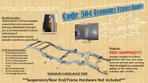 100 1950 Chevy Truck Frame Swap Code 504 Is A Manufacturer Of USA Made BoltOn S10 Chassis