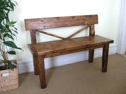 Rustic Bench With Back Farmhouse Style Solid Wood Like This Item