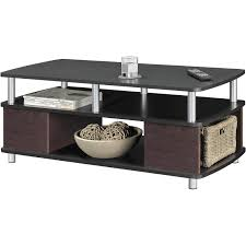 Living Room Table Sets With Storage by Ameriwood Home Carson Coffee Table Espresso Silver Walmart Com