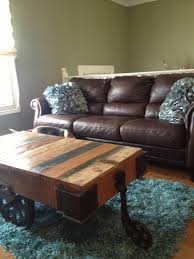 Dark Brown Sofa Living Room Ideas by Living Room Turquoise And Chocolate Brown In My House