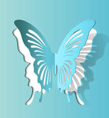 Butterfly paper cutting vector 2 1000Vectors