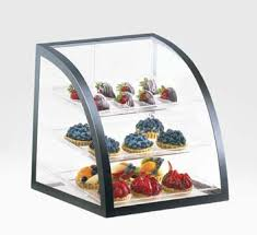 Home Bakery Displays Black Iron Display Case