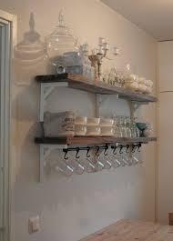 Rustic Plank Shelves IKEA Shelf Brackets Rail With Hooks For Hanging