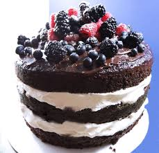 Black Forest Cake with Sour Cherries and Mascarpone Cream Filling