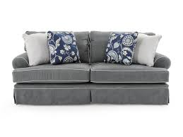broyhill furniture emily casual style sofa with rolled arms and