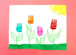 Simple Craft Projects For Adults Awesome Quick And Easy Kids Ideas Spring Fork Tulips