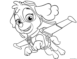 Outstanding S Epic Paw Patrol Coloring Pages Sky
