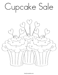 Cupcake Sale Coloring Page